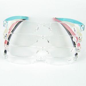 Heißer verkauf Billig Lesebrille Schlank Kunststoffrohr Lesen Brillen Kunststoff Fall Mit PC Rohr Fall Clip Für Olders D030