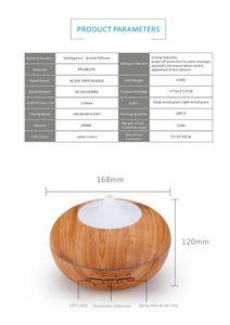300 ml di marca olio essenziale diffusore di legno di grano ad ultrasuoni aroma fresco nebbia umidificatore per ufficio camera da letto baby room studio yoga spa