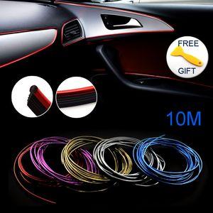 10M Trims Strips Accessories DIY Brand Thread Stickers Decoración y Calcomanías 3D Auto Car-Styling Decoración Interior Accesorios Tira