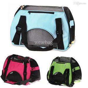 Venta caliente-Portátil impermeable Lona Perro Gato Mascota Portador de viaje Bolsa de transporte 43x20x29cm
