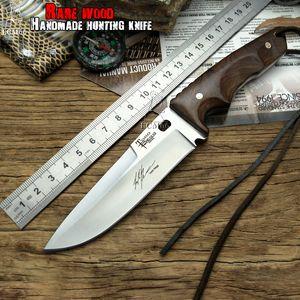 охотничий нож тактический Малый Неподвижные ножи, медь Ebony ручка ножа выживания, холодная сталь инструмента Кемпинг Портативный нож CS ручной нож