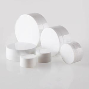3g 5g 10g 30g 50g 100g 10pcs Tarro plástico blanco portátil Máscara Tarros poner crema con la tapa deprimida Botella Vacía bálsamo labial Contenedores EJ14