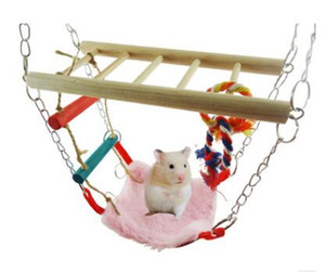 Hot hamster toy squirrel parrot bird toy hanging bridge swing hammock staircase