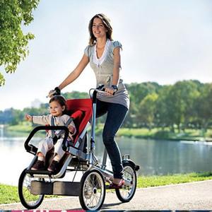 SICAK Ebeveyn-çocuk Üç Tekerlekli Bisiklet Bebek Arabası Taşıyıcı Arabası yönlü Katlama Anne Ve Çocuk Tricycle Bebek Çocuk Taşıyıcı Bisiklet