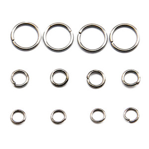 Toutes les tailles en acier inoxydable Jump bijoux bague en laiton Finding ouvert Anneaux Composants de / sac JR06