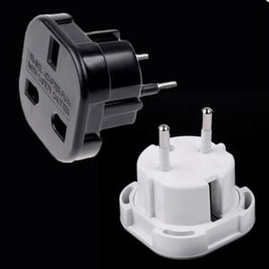 Черный/белый Великобритания в ЕС Европа европейский универсальный путешествия зарядное устройство адаптер штекер конвертер 2-контактный розетка