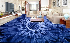 3d floor Dream flower stereoscopic wallpaper customize New product Dream flower pvc flooring roll