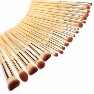 Jessup Brand 20pcs Beauty Bamboo Professional Makeup Brushes Set Maquillaje Brush Tools Kit Foundation Powder Brushes Eye Shader