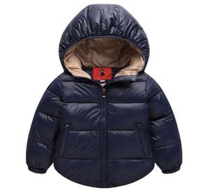 Invierno Boys Outerwear Outer Cotton Girl Coat Newborn Baby Snowsuit Infantil sobrecoat niños Invierno-Ropa Niños Chaqueta