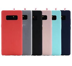 Coque TPU souple et souple pour Huawei MATE10 P10 LITE Honor 6X 6A Samsung Galaxy NOTE 8 NOTE8 en caoutchouc givré coloré couverture de peau de silicium téléphone portable