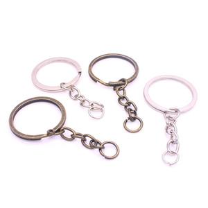 Сладкий колокол минимальный заказ 30 шт. брелок брелок родиевое покрытие 60 мм длинный круглый Сплит брелок Оптовая Y01052
