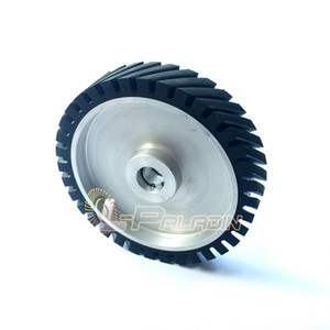 250*50mm Serrated Belt Grinder Rubber Contact Wheel for Sanding Belts