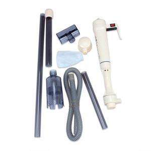 Nuevo acuario Batería Aspirador Grava Peces Depósito de agua Limpiador del filtro Limpiador Fácil de instalar y usar