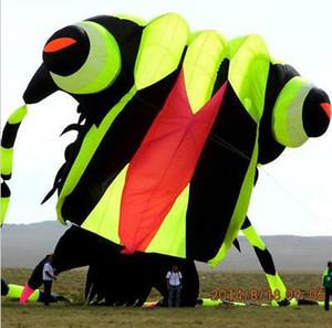 design 3D 10sqm trilobite macio kite esporte nylon tecido kite roda fácil de voar
