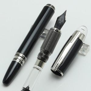 Alta Qualidade-Luxo MT 14k 4810 Caneta tinteiro transparente tampa Classique resina preta com numeração de série