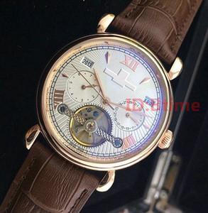 2020 브라운 가죽 VC 톱 패션 기계 남성 스테인레스 스틸 골드 오토매틱 무브먼트 시계는 손목 시계 시계보세요, bTime 망