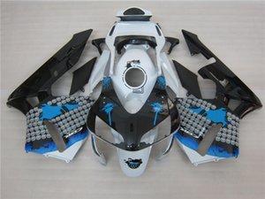 3 regalo Nueva Hot ABS kits de Carenado de la motocicleta 100% Ajuste Para Honda CBR600R F5 2003 2004 CBR600 600RR 03 04 conjunto de carrocería agradable Blanco negro azul t3