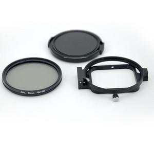 58-миллиметровый круговой фильтр UV / CPL с откидным кольцом для Hero 7 6 5 Водонепроницаемая камера в черном корпусе