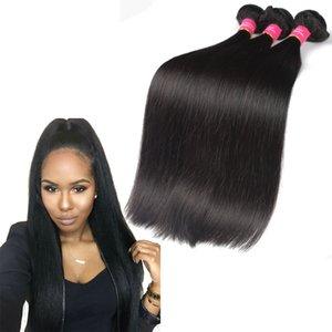 Tessuto dei capelli umani di estensioni dei capelli vergini malesi 3 4 5 pc / lotto tessuto dei capelli del fascio di fasci di buona qualità nessun spargimento 8-28inch disponibile