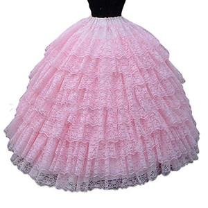 2018 recién llegado de ganchillo nupcial enagua vestido de bola vestidos de novia enaguas seis falda de crinolina debajo de vestidos de novia de alta calidad