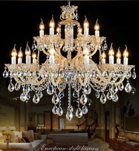 Luce di cristallo moderna Noble Luxurious Export K9 Lampadario di cristallo Candela luci di cristallo Villa soggiorno Lampadario di lusso