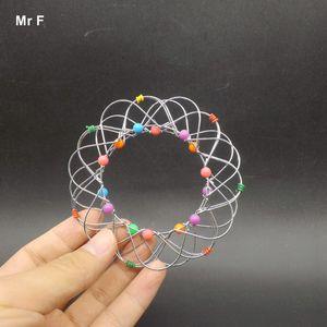 Flower Metal Ring Puzzle IQ Brain Teaser Test Toy Kid Gift Mind Game Magic Trick Iron Gadget