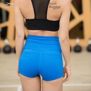 Mermaid Curve Sports Gym Shorts Women in Yoga shorts High waisted 260g Fabric Quick-drying Fitness Running Elastic tight shorts