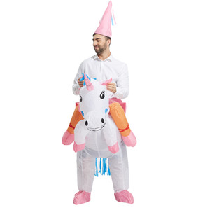 Costume gonflable adulte Noël Cosplay ciel cheval Costume animal Halloween Combinaison pour les femmes hommes