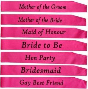 Addio al nubilato sposa per essere sash Bridal Shower Wedding Hen Notte Party Decorations Bomboniere Accessori Shabby Chic Classy Gift
