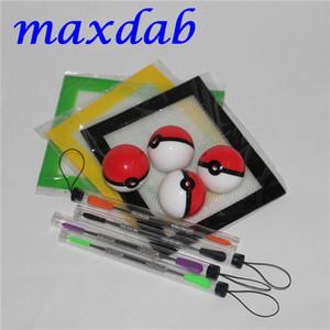 Silikonwachs Kit Set mit Laken Pads Matten 6ml Pokeball Silikonbehälter Tupfer Werkzeug für trockene Kräutergläser Tupfer