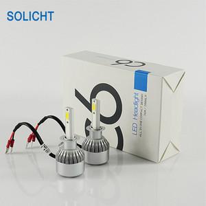 Ampoules H1 H3 H4 H7 H8 880/881 H11 H13 9004 9005 9006 9006 9012 de la voiture LED de phare de l'ÉPI C6 LED de 72W 7600lm LED
