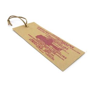크래프트 종이는 의류 청바지 갈색 paperbaord의 350g-1,000g 행택을 인쇄 의류에 부착 문자열 옵션 사용자 정의 스윙 태그 태그를 걸어