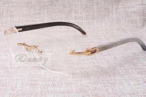 En caliente de alta calidad vendedora marco de la rueda de lujo 8100903 gafas negras y blancas naturales hombres y mujeres de ocio de moda el tamaño de gafas: 54-18-140mm