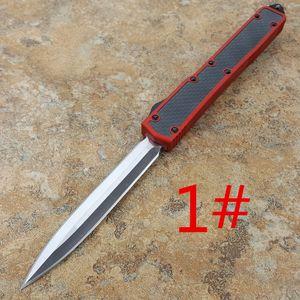MICR Makora II 106-1 fibre de carbone Shank Double Edge en alliage d'aluminium T6-6061 Saw Edge couteau de survie de la chasse au camping en plein air comme un cadeau pour les hommes