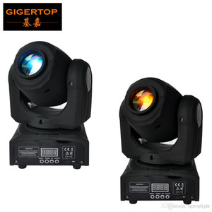 Frete grátis 2XLOT Mini Cree 10W Led Moving Head Spot Light High Power silencioso trabalho DMX512 Luz Mini Disco Party Night Club