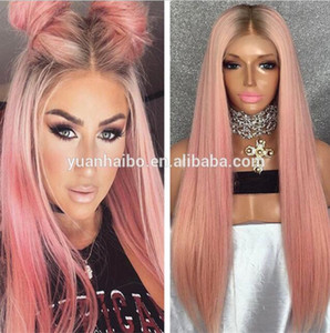 Celebrity Wig Full Lace Wig Straight 10A Grade Brazilian Virgin Human Hair Ombre Color Lace Front Wigs For Birthday Party Wig Free Shipping