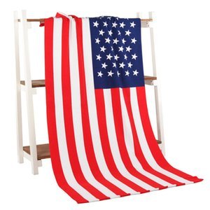 Summer Beach TOWEL 140*75cm towel drying washcloth swimwear shower towels National flag USA UK Canada flag hundred dollar free shipping