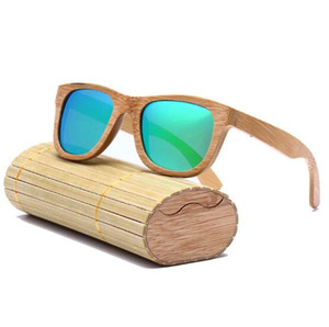 2017 Brand Designer men women bamboo wood Sunglasses New Polarized Blue Skateboard bamboo Wood Glasses Retro Vintage Eyewear