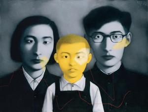 Livraison gratuite, beaucoup de gros, z057 #, portrait de peinture à l'huile de bricolage par Zhang Xiaogang, toute taille personnalisée acceptée