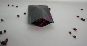 Bolso llano de galjanoplastia de aluminio negro de los 7 * 10cm, bolsos planos de la máscara facial de mylar aluminized mylar, bolsillo calentado del ping del lacre