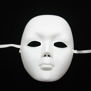 200pcs / lot visage blanc femelle Halloween mascarade mime masque partie de costume de bal masques