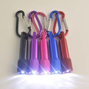 Mejor portátil Mini llavero linterna LED de aleación de aluminio de la antorcha con mosquetón Llaveros Anillo LED Mini envío libre de la linterna Mini-luz