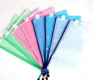 Waterproof Zip Bag Document Pocket Folder A4 plastic pockets file folder