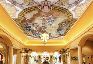 Papel tapiz de techo 3d personalizado HD pintura al óleo europea murales de techo 3d wallpaper sala de estar dormitorio techo wallpaper
