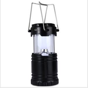 Классический Стиль 6 Светодиодов Аккумуляторная Ручная Лампа Складной Солнечный Фонарь Кемпинга Палатка Огни для Наружного Освещения Туризм