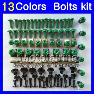 Fairing bolts full screw kit For KAWASAKI NINJA ZZR 250 1990 1991 1992 ZZR250 1993 1994 1995 98 1999 Body Nuts screws nut bolt kit 13Colors