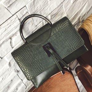 2017 Piccola Piazza del Fashion Handbag In Europa coccodrillo Linee di marea singola spalla Bag, borsa