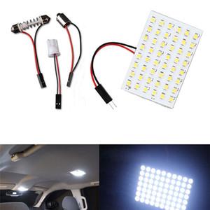 T10 어댑터 초 롱베이스 3528-48SMD와 함께 48 LED 자동차 자동차 돔 꽃 봉 인테리어 램프 지붕 읽기 빛 램프