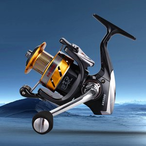 Todo o Fio de Metal Copo 13 + 1BB Engenharia Roda de Fiar AM 1000-7000 Série Spinning Reels Fishing Coil Gear Ratio 5.5: 1