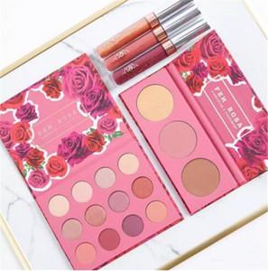 Más reciente Conjunto de maquillaje ColourPop Fem Rosa Conjunto 12 colores Sombra de ojos +3 color Resaltador +3 color Mate lápiz labial DHL envío A08